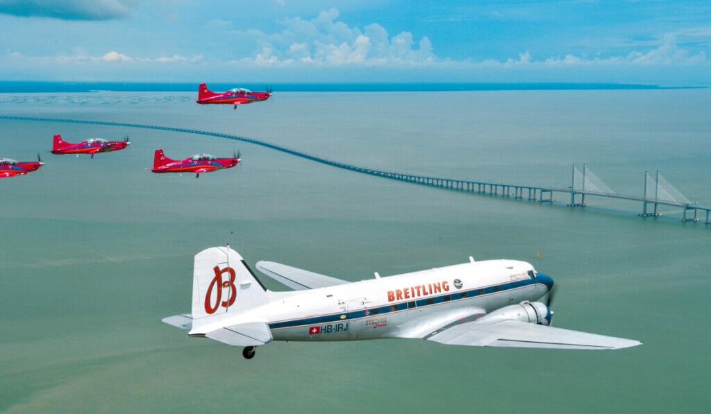 The Peak Takes To The Skies On The Legendary Breitling Douglas DC-3