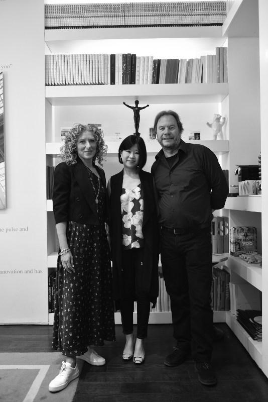 Kelly Hoppen, Joanne Kua and John Hitchcox at the YOO office in London.