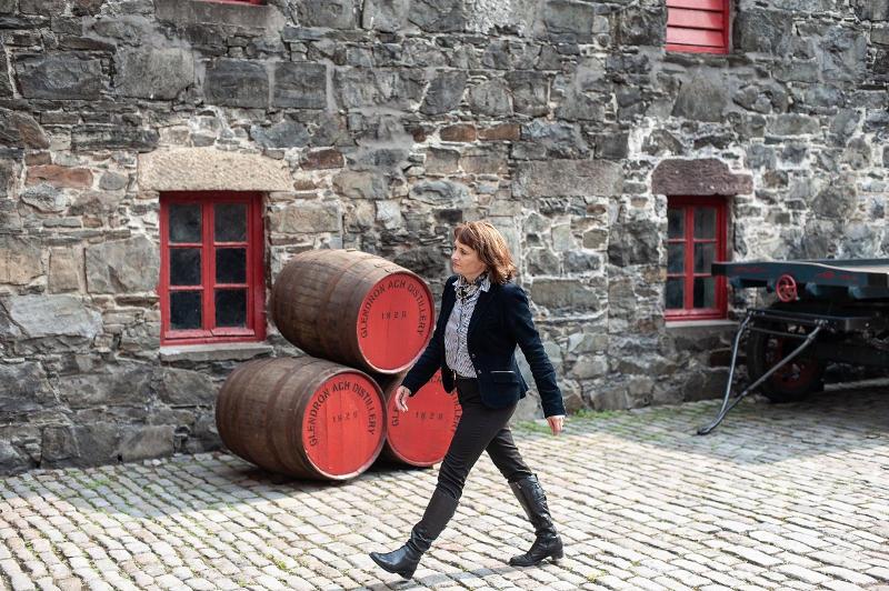 Rachel Barrie on the distillery grounds