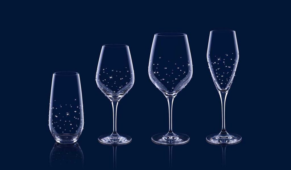 Object of desire: Arion 1725 crystal-studded stemware