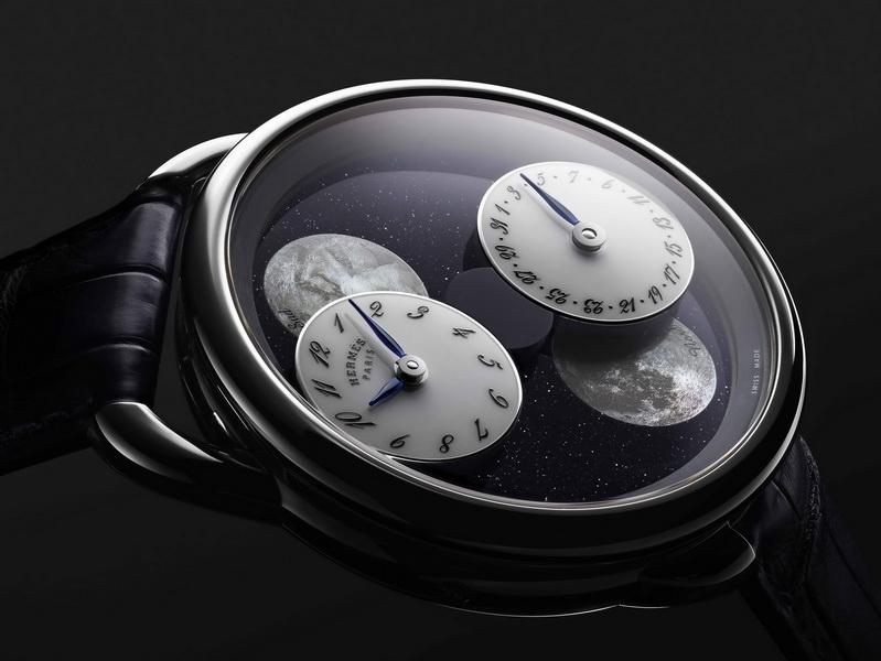 Hermès' Arceau L'Heure De La Lune combines beauty with form